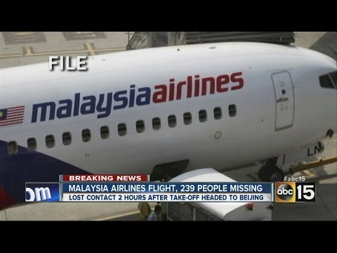 Jetliner missing since it took off from Malaysia