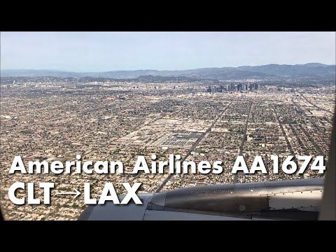 [ USA Flight ] American Airlines AA1674, Charlotte To Los Angeles