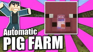 Minecraft Bedrock - PIG & PORK CHOP FARM 🐷 Auto 🥩 Tutorial - PS4 , MCPE , Xbox , Windows & Switch