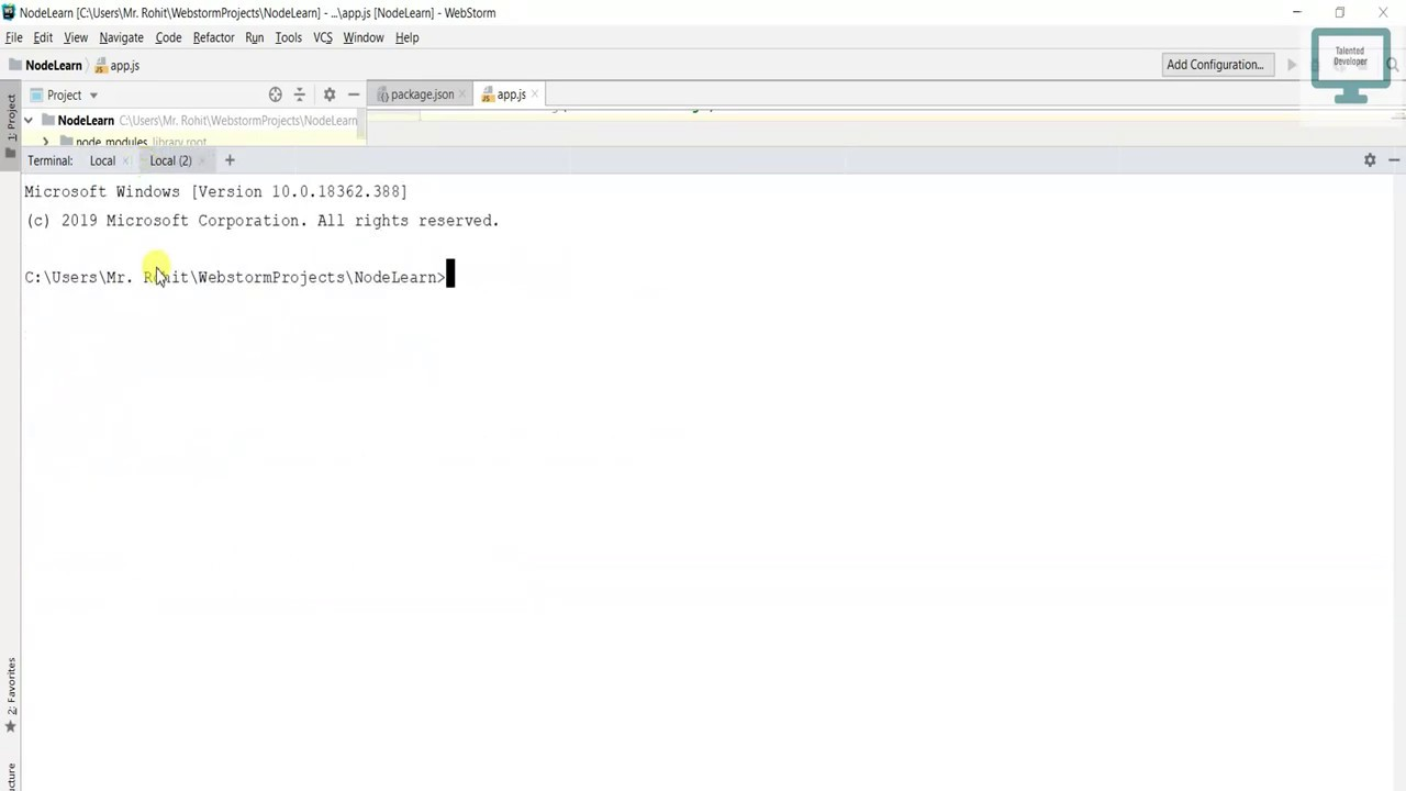 6.Create Server using Express(Webstorm)