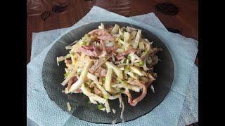 ПП Ужин : Салат из консервированного кальмара. ПП рецепт.
