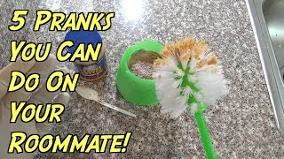 5 Pranks You Can Do On Your Roommate - HOW TO PRANK (Evil Booby Traps)