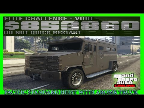 GTA 5 Pacific Standard Heist Glitch With Armored Truck (NEW METHOD)