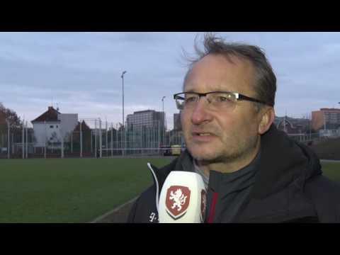 Trenér reprezentace do 16 let Václav Černý hodnotí zápas s Německem (17. 11. 2016)