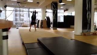 Степина Оля - Мой фитнес 2014 (акро-прыжки)
