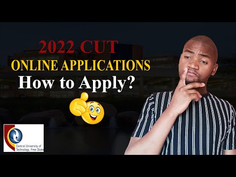 How to apply online at Central University of Technology for 2022? Easy!