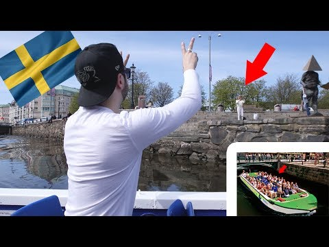 PHOTOBOMBING People From A BOAT!  | Day 2 Gothenburg|