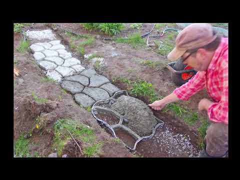 *How to: Pathmate Random Stone Concrete Walkway Mold-Kit - DIY