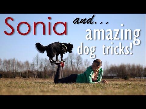 Sonia & amazing dog tricks!