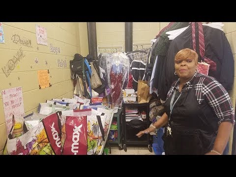 Chris Matthews - School Janitor sets up 'Giving Closet' for students in need