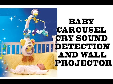Baby carousel with music, nature sounds and lights projector on the wall - Baby Crying detection