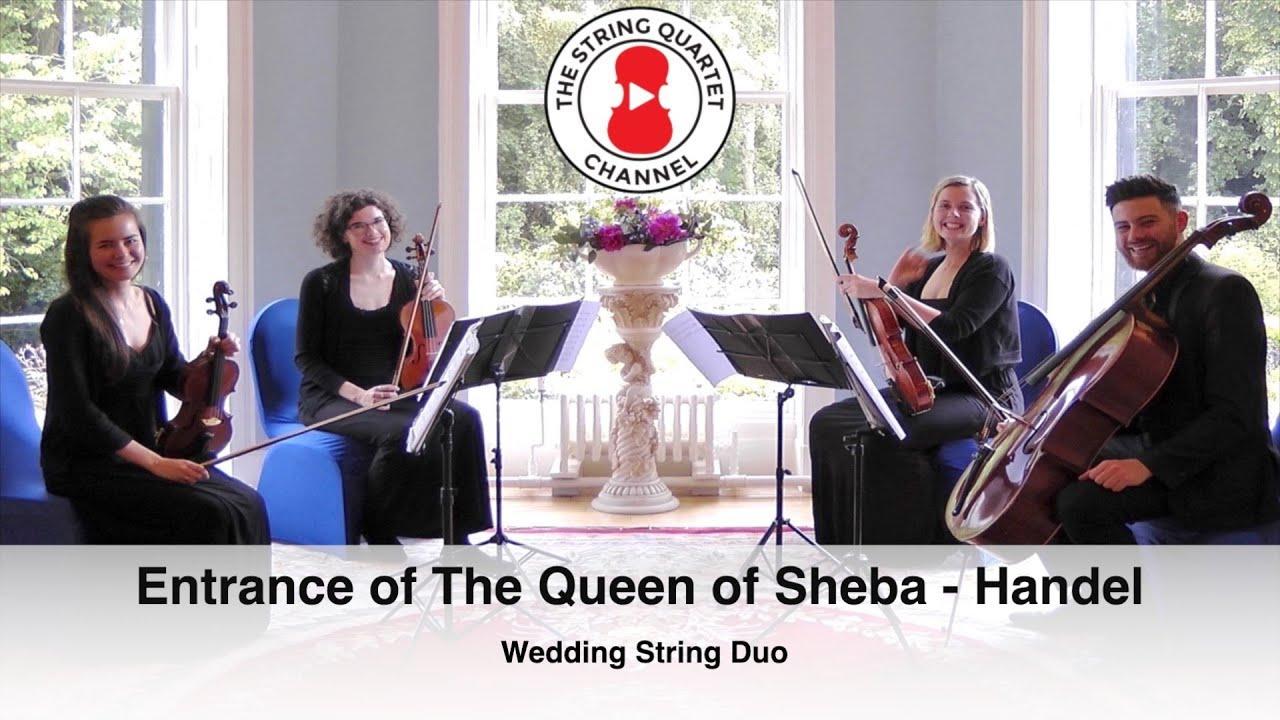 Entrance Of The Queen Sheba Handel Wedding Violin Viola Duo