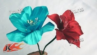 DIY  Flower from Satin Ribbon JK Arts 210