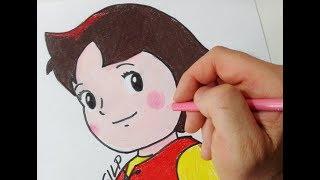 How to draw Heidi