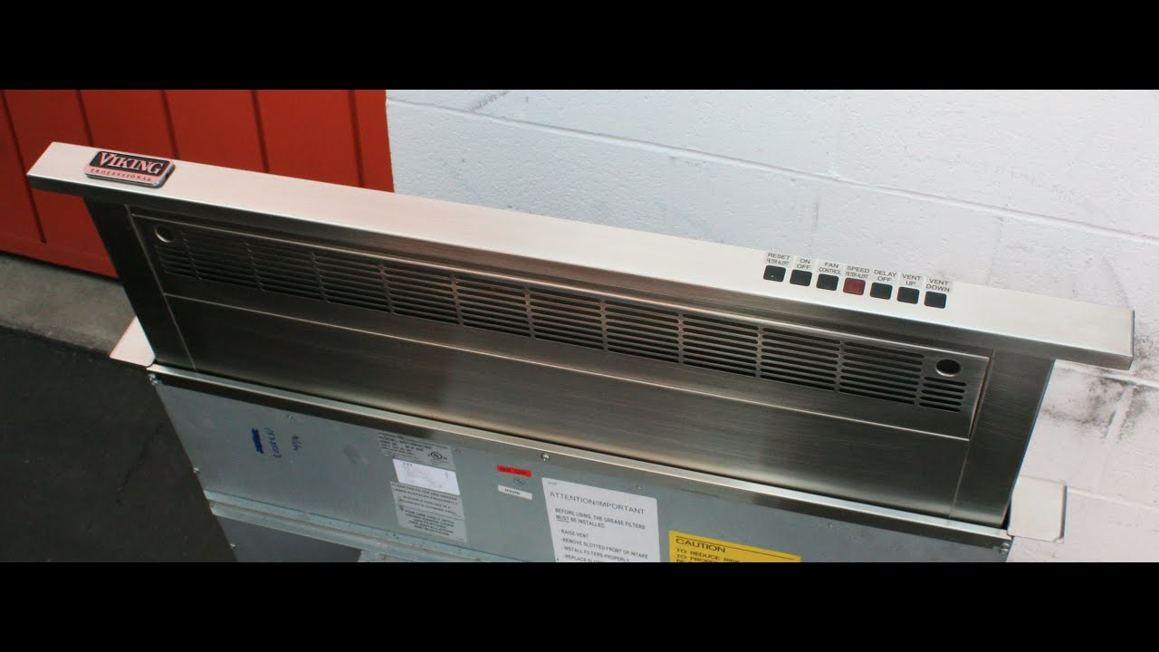 Viking Downdraft Ventilation System Demonstration Video