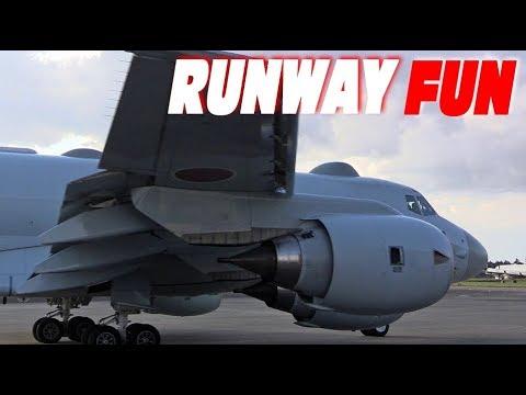 4発エンジンスタート!!! P-1対潜哨戒機の帰投 海上自衛隊下総航空基地