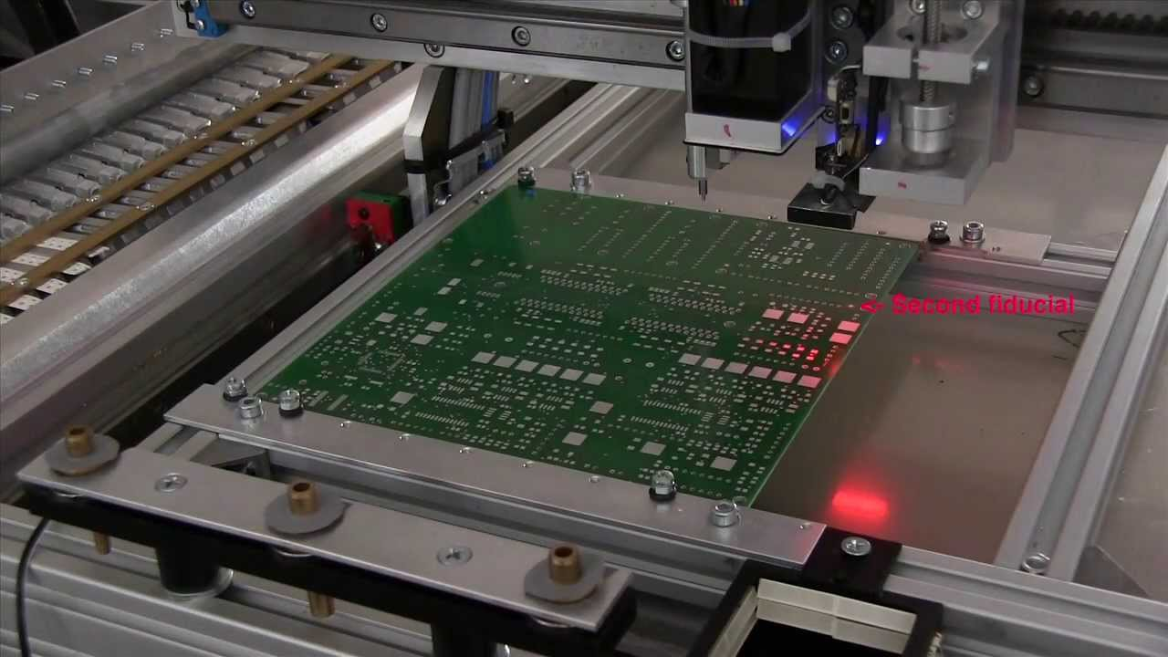 Homemade SMD Pick and Place Machine  Fiducial Alignment