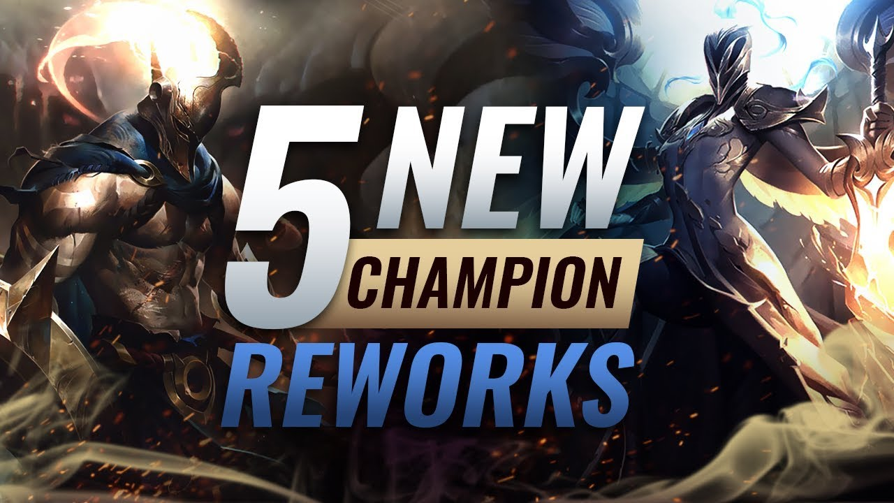 5 NEW Champion REWORKS COMING SOON - League of Legends Season 9 thumbnail