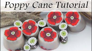 Polymer Clay Cane: Poppy Flower Cane Tutorial