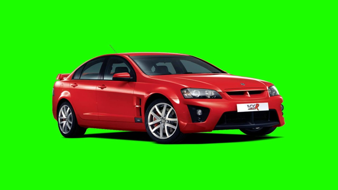 red super car in green screen free stock footage - YouTube