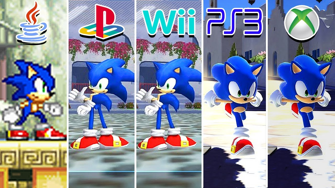 Sonic Unleashed (2008) Java vs PS2 vs Wii vs PS3 vs XBOX 360 (Which One is Better?)