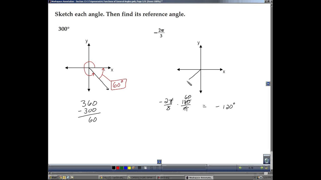 Algebra 2 Section 13 3 Trigonometric Functions Of General