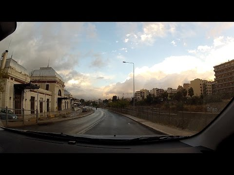 Athens' backstreets, Greece (Peloponnese station - Plato's academy, city driving) - onboard camera