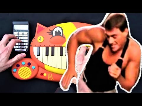 BAILA CONMIGO BUT IT'S ON A CAT PIANO AND A DRUM CALCULATOR