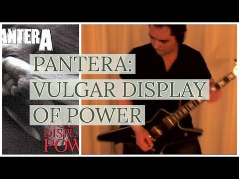 Pantera cover: Vulgar Display of Power album guitar riffs