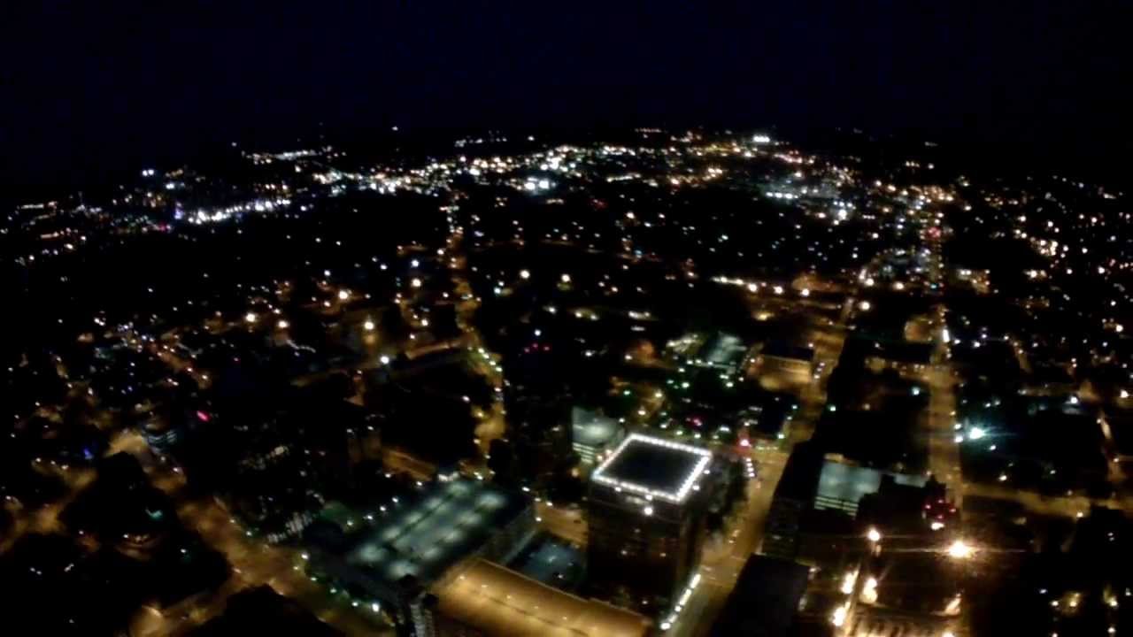 Rc Plane Night Flight Over Downtown Greensboro 11 Youtube