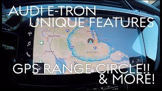 Audi E-tron 5 Awesome Unique Features (GPS Range Circle & More!)