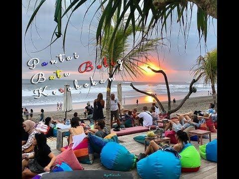 pantai-batu-belig-kerobakan-bali- -vlog-batu-belig-beach