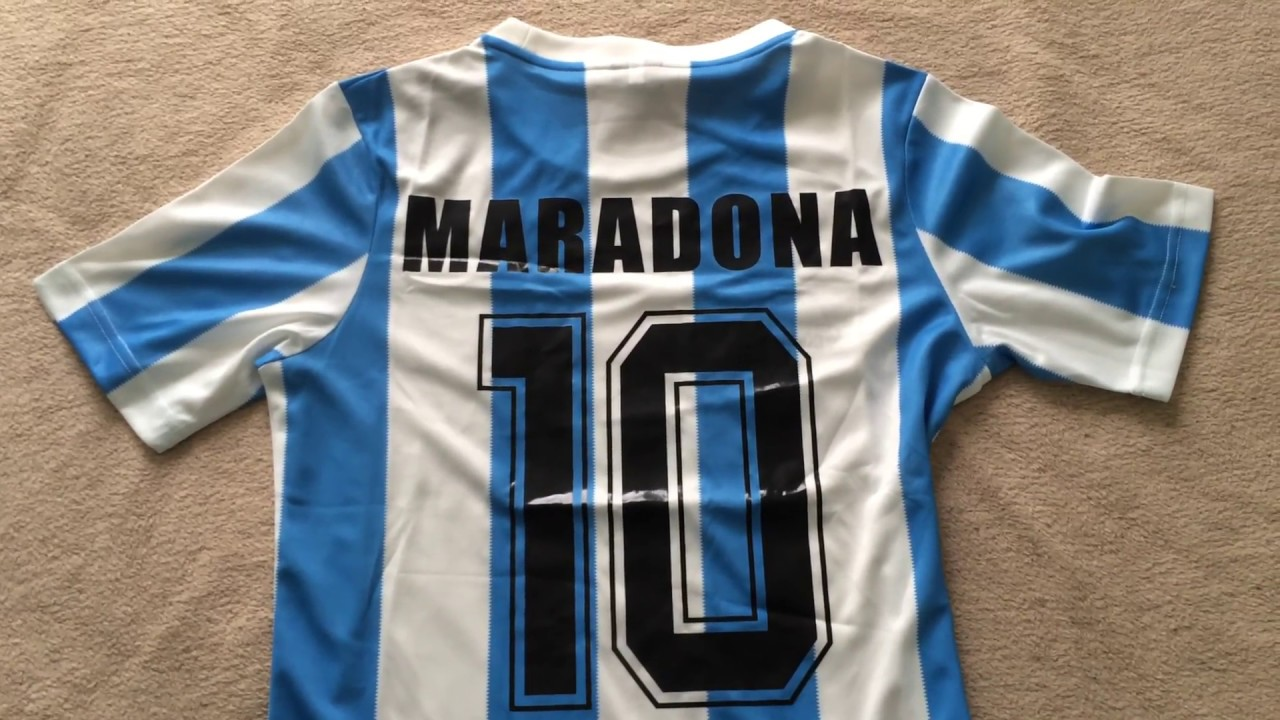 5a553fdaab3 Minejerseys.co - Argentina  86 World Cup Winner Maradona Retro Home Jersey  Review