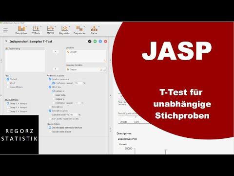 JASP Tutorial (deutsch): T-Test Für Unabhängige Stichproben (mit Welch-Test, Mann-Whitney-U-Test)