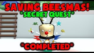 SECRET QUEST COMPLETED! - SAVING BEESMAS - Roblox Bee Swarm Simulator