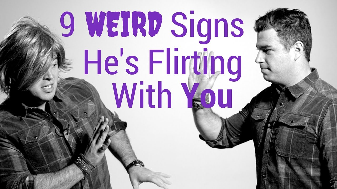 flirting signs he likes you like now video online