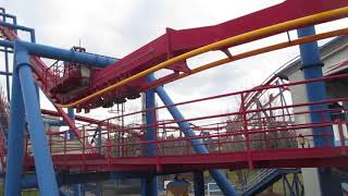Last Ride Superman and New Paint Six Flags Great America 4-13-19