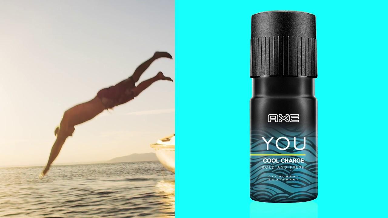 New Axe You Cool Charge Bodyspray Sensasi Segar Wangi Tanpa