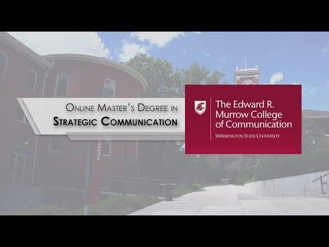 WSU Online MA In Strategic Communication