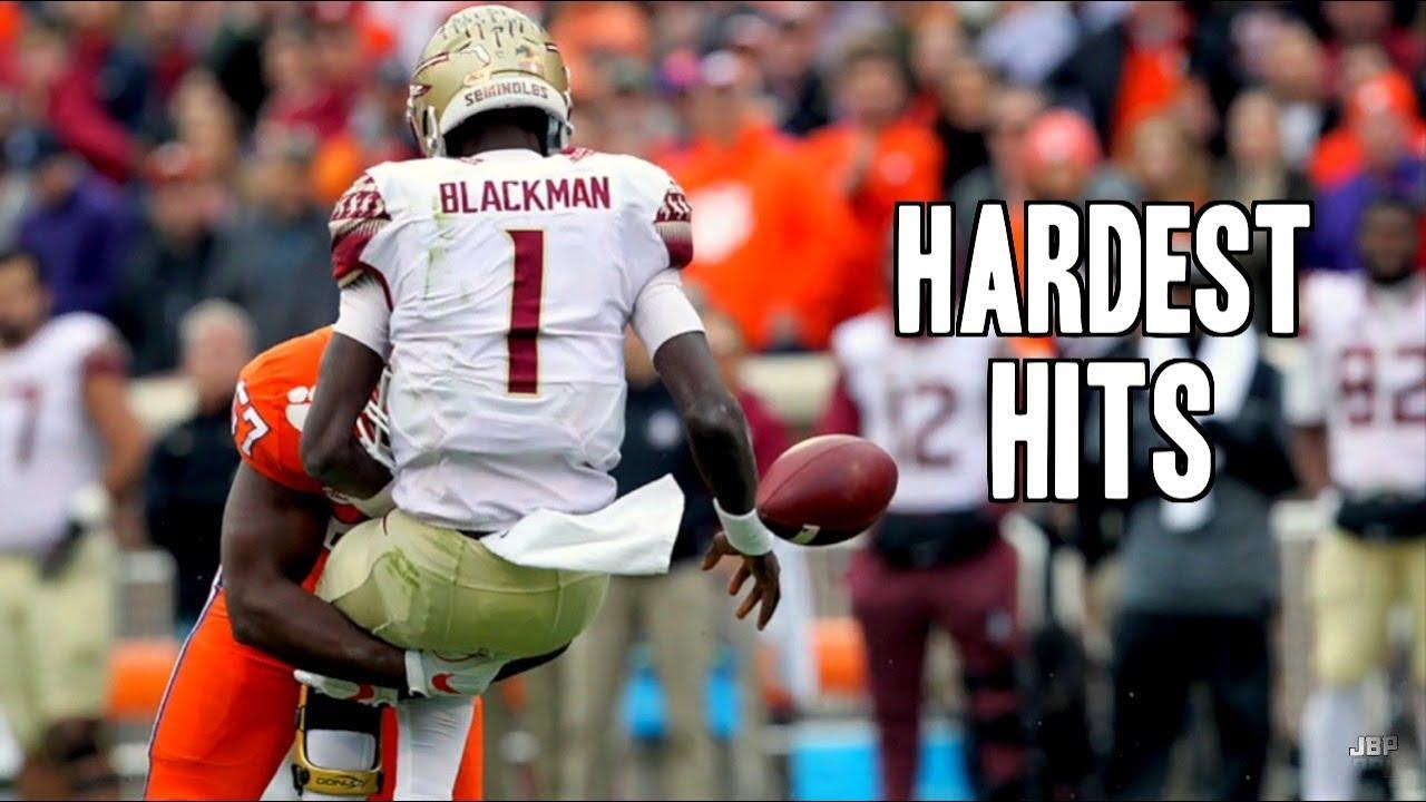Hardest Hits of the 2017-18 College Football Season || Part 2 ᴴᴰ