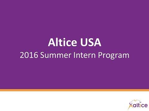 2017 Altice USA Summer Intern Program