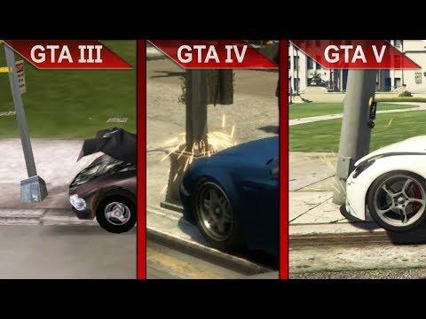 EVOLUTION OF GTA | GTA III Vs. GTA IV Vs. GTA V | PC | ULTRA