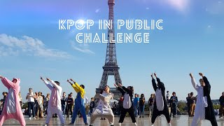 [DANCING TO KPOP IN PUBLIC PARIS] BTS - GO GO dance cover by RISIN