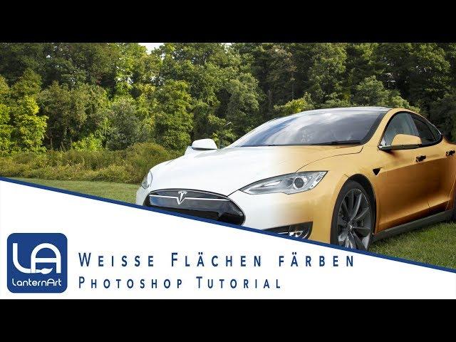 // PHOTOSHOP // WEISSE FLÄCHEN FÄRBEN // TUTORIAL //