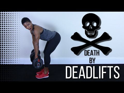 20 Minute Cardio and Deadlifts Workout - At Home Lower Body Workout