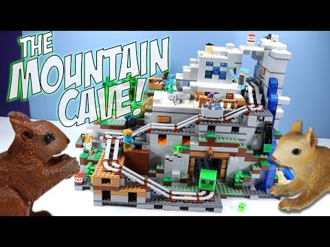 LEGO Minecraft The Mountain Cave Set 21137 Speed Build Review