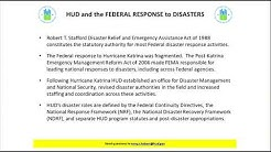 HUD's Field Operations for Disaster Response