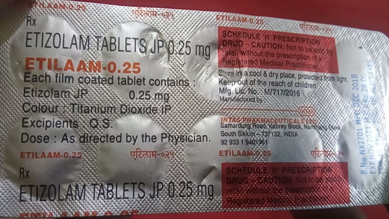 Tab Etilaam ― Etizolam Abuse and Side Effects