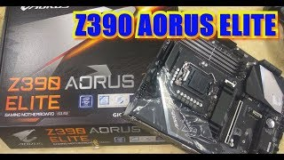 Z390 AORUS ELITE Motherboard 9th GEN First Look and Unboxing |Tech Land