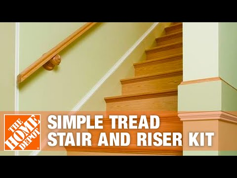 Alexandria Moulding Simple Tread Stair And Riser Kit The Home | Poplar Stair Treads Home Depot | Hardwood | Baluster | Hand Rail | Wood | Risers